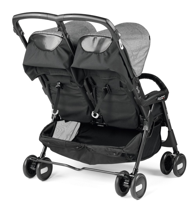 Коляска для двойни Peg-Perego Aria Shopper Twin Cinder