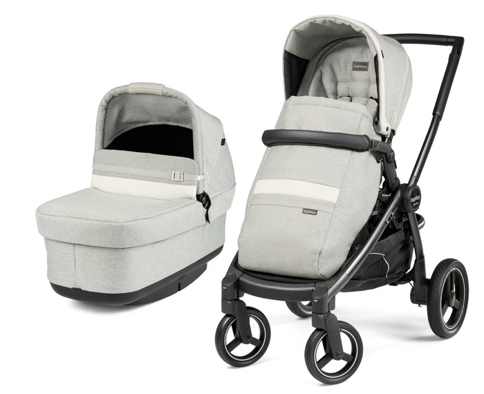 Коляска 3 в 1 Peg-Perego Team Pop-Up i-Size Luxe Pure