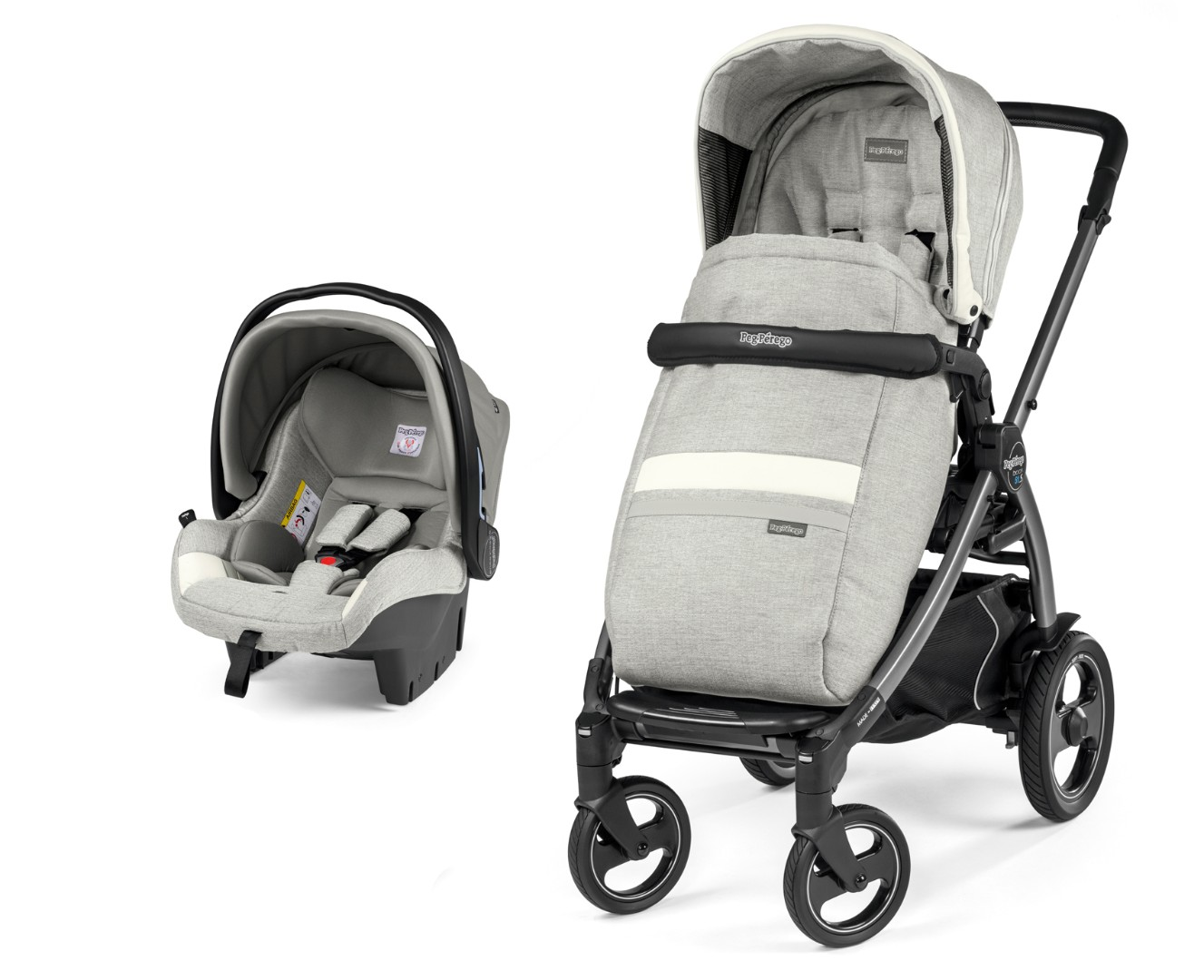 Коляска 2 в 1 Peg-Perego Book 51S SL Travel System Luxe Pure