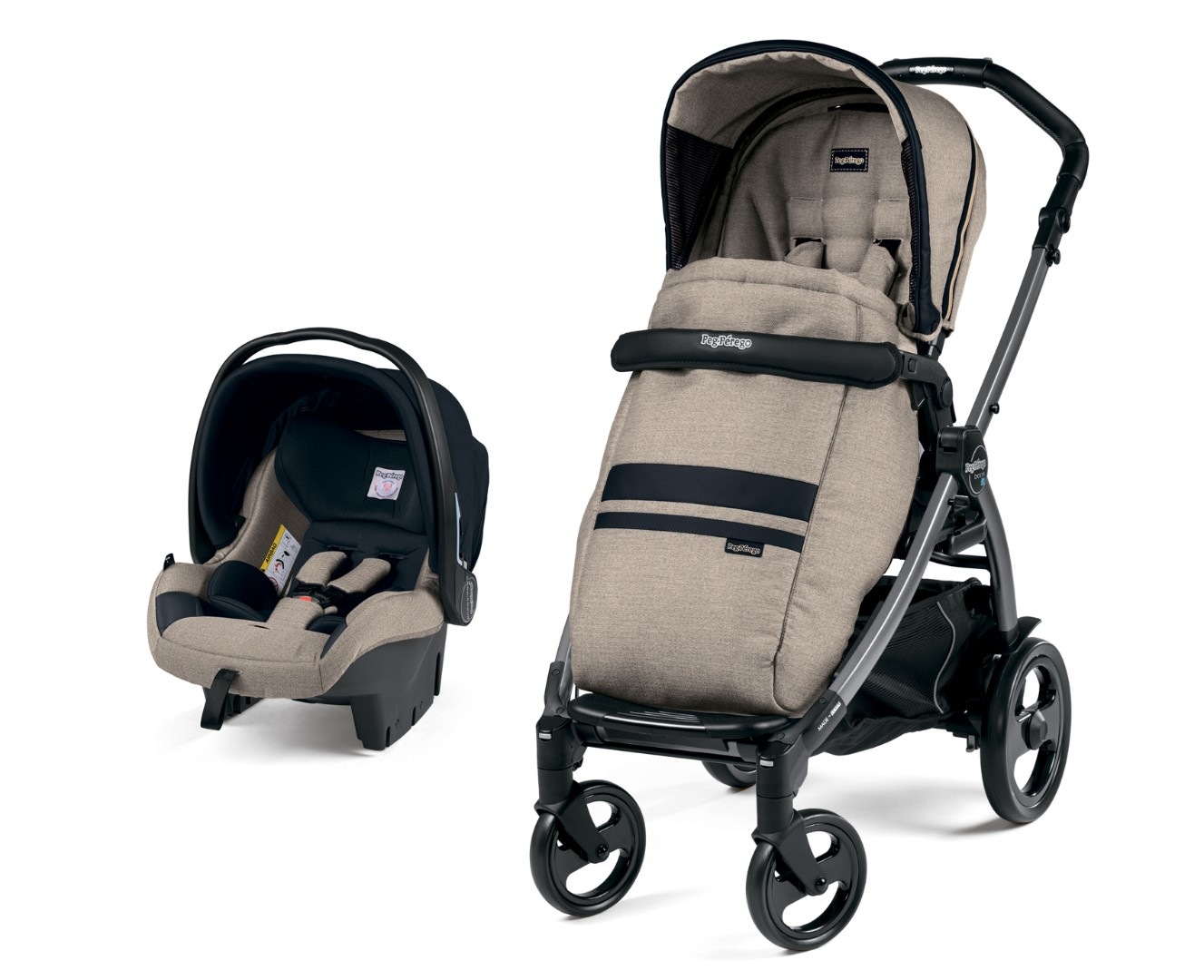 Коляска 2 в 1 Peg-Perego Book 51 SL Travel System Luxe Ecru
