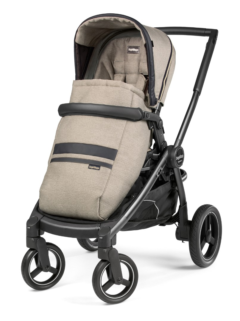 Коляска 2 в 1 Peg-Perego Team i-Size Travel System Luxe Ecru