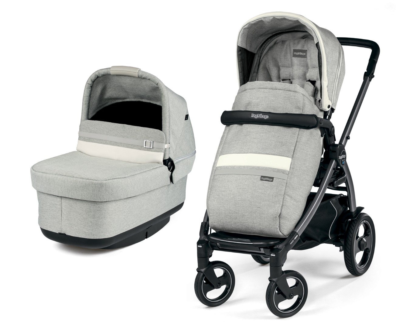 Коляска 2 в 1 Peg-Perego Book 51S Pop-Up Combo Luxe Pure