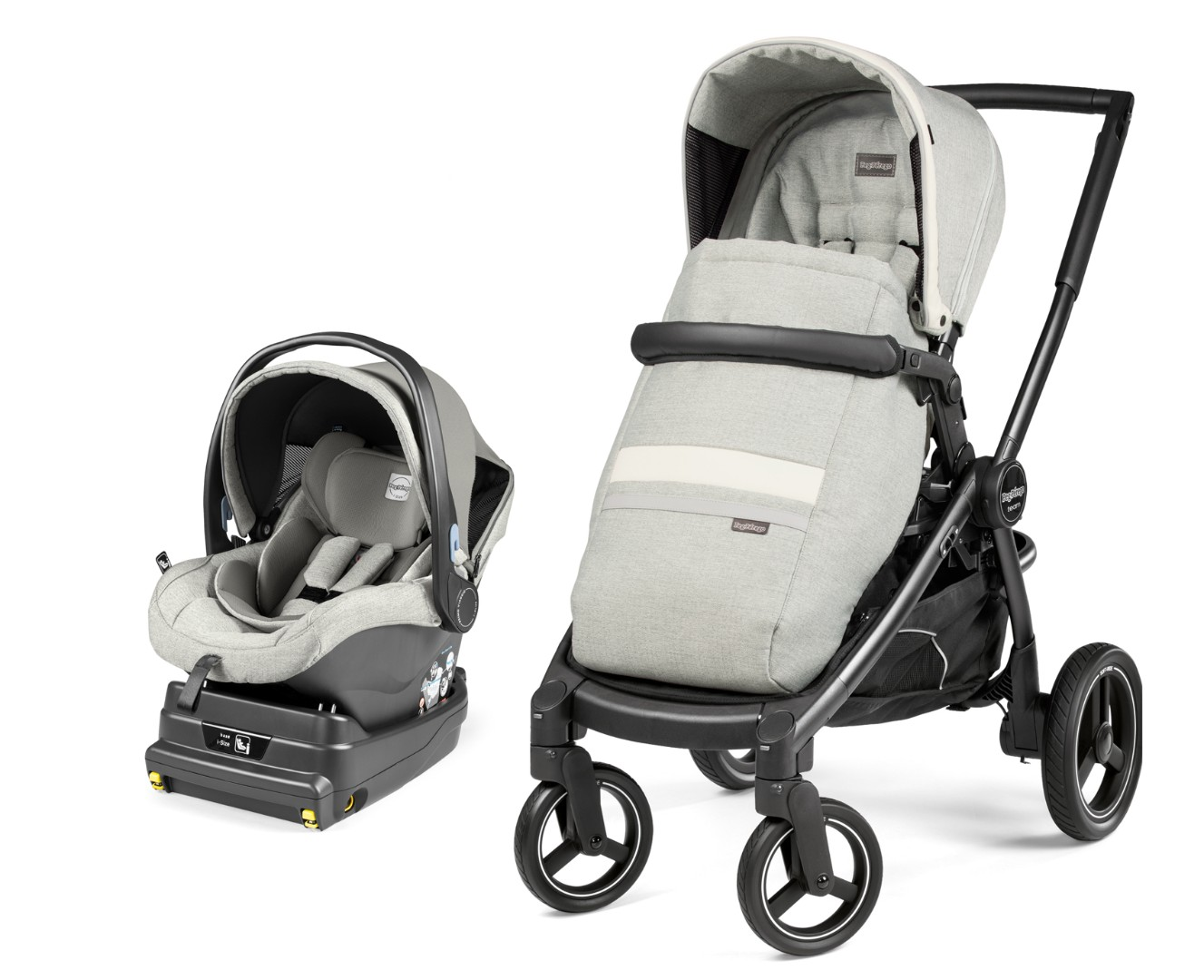 Коляска 2 в 1 Peg-Perego Team i-Size Travel System Luxe Pure