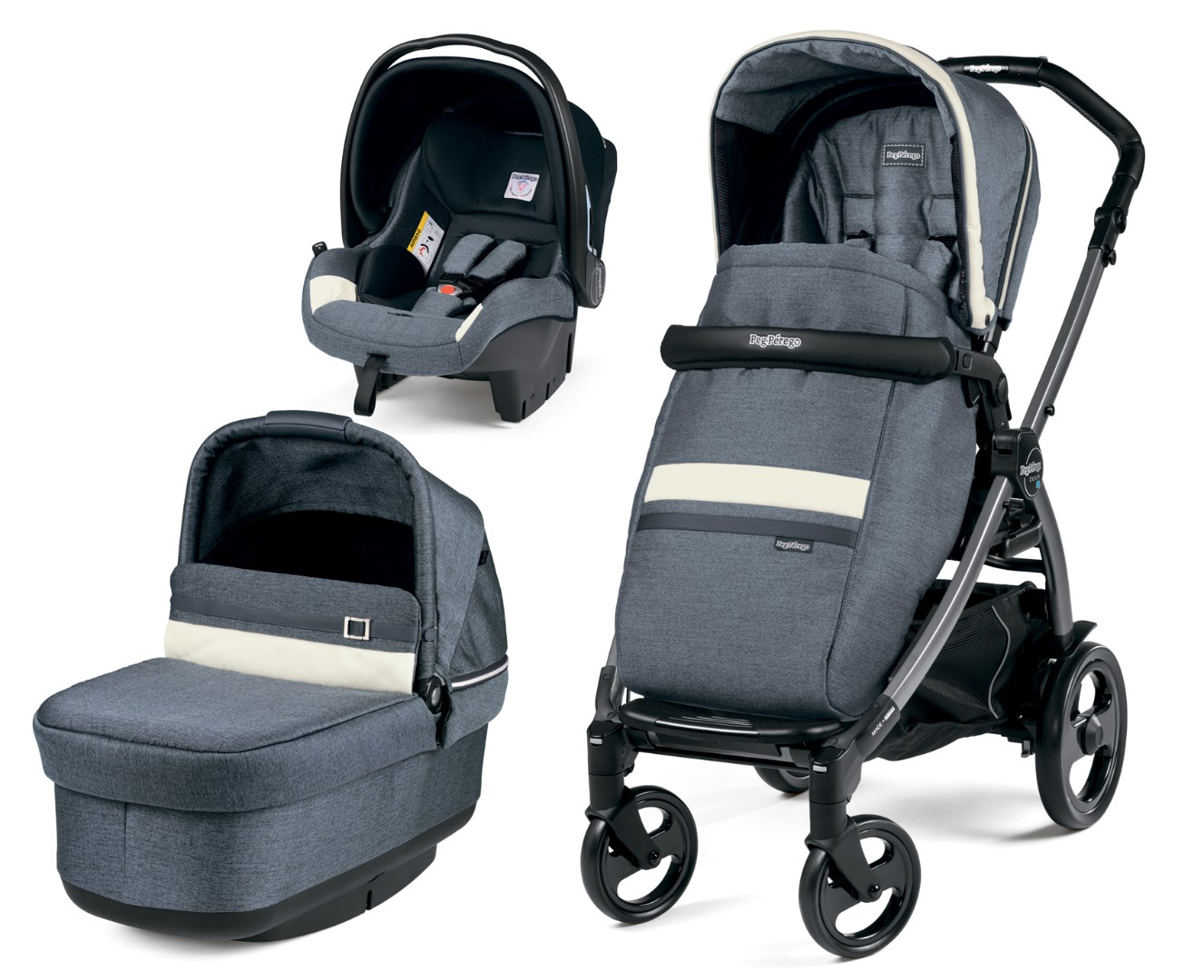 Коляска 3 в 1 Peg-Perego Book 51 Pop-Up SL Luxe Mirage